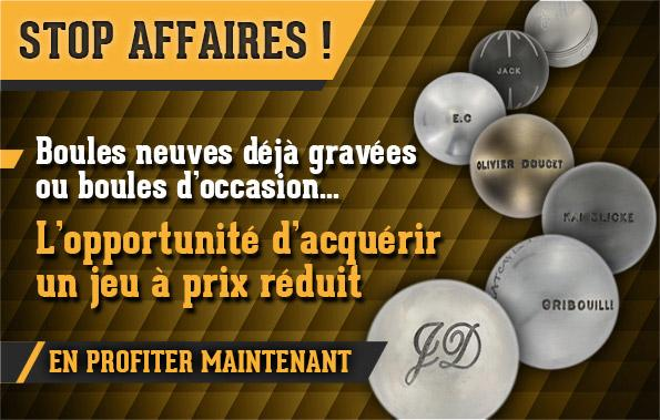 Boules occasion gravees