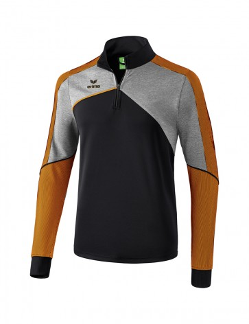 Sweat d'entraînement Premium One 2.0 - Enfant - noir/gris chiné/orange fluo