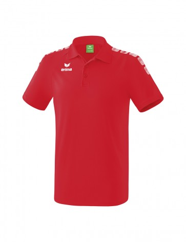 Polo 5-C Essential - Homme - rouge/blanc