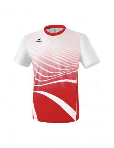 T-shirt - Homme - rouge/blanc