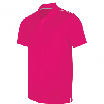 Polo manches courtes - homme - rose