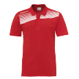 Polo manches courtes Liga 2.0 - Rouge/blanc - Homme