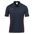 Polo manches courtes Score - Marine/fluo Rouge - Homme
