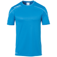 Maillot manches courtes Stream 22 - Cyan/blanc - Homme
