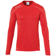 T-Shirt manches longues Stream 22 - Rouge/blanc - Homme
