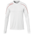 Maillot manches longues Stream 22 - Blanc/rouge - Homme