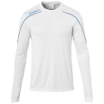 Maillot manches longues Stream 22 - Blanc/azur - Homme