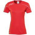 Maillot manches courtes Stream 22 - Rouge/blanc - Femme