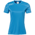 Maillot manches courtes Stream 22 - Cyan/blanc - Femme