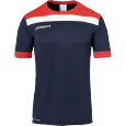 Maillot manches courtes Offense 23 - Bleu Marine/rouge/blanc - Homme