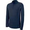 Sweat running 1/4 zip - homme - bleu marine