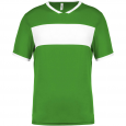 Maillot manches courtes - homme - vert/blanc