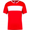 Maillot manches courtes - homme - rouge/blanc