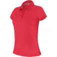 Polo manches courtes - femme - rouge