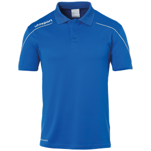 Polo manches courtes Stream 22 - Azur/blanc - Homme