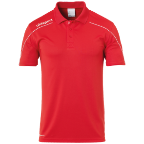 Polo manches courtes Stream 22 - Rouge/blanc - Homme