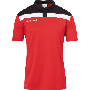 Polo manches courtes Offense 23 - Rouge/noir/blanc - Homme