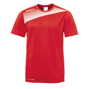 Maillot manches courtes Liga 2.0 - Rouge/blanc - Homme