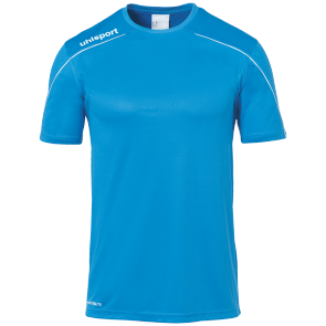 Maillot manches courtes Stream 22 - Cyan/blanc - Enfant