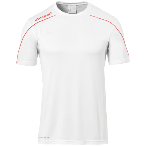 Maillot manches courtes Stream 22 - Blanc/rouge - Homme