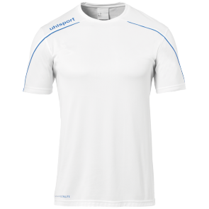 Maillot manches courtes Stream 22 - Blanc/azur - Homme