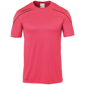 Maillot manches courtes Stream 22 - Rose Fuchsia/noir - Homme