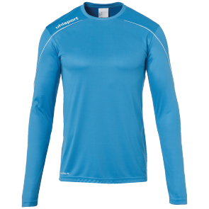 Maillot manches longues Stream 22 - Cyan/blanc - Homme