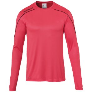 Maillot manches longues Stream 22 - Rose Fuchsia/noir - Homme