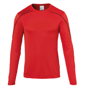 Maillot manches longues Stream 22 - Rouge/noir - Homme