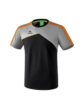 T-shirt Premium One 2.0 - Adultes - Enfants - noir/grey marl/neon orange