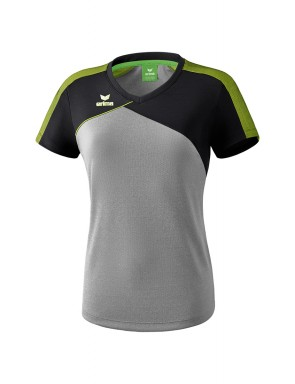 T-shirt Premium One 2.0 - Femmes - gris chiné/noir/lime pop