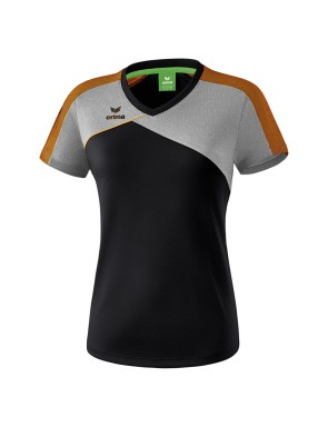 T-shirt Premium One 2.0 - Femmes - noir/grey marl/neon orange