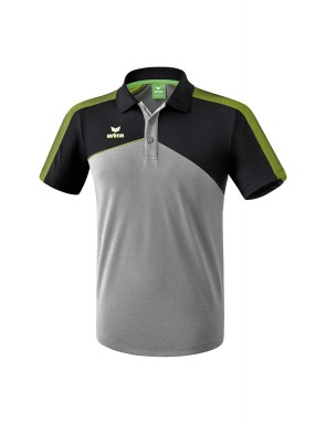 Polo Premium One 2.0 - Enfant - gris chiné/noir/vert citron