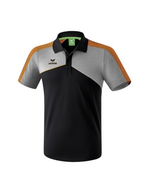 Polo Premium One 2.0 - Enfant - noir/gris chiné/orange fluo