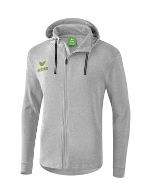 Veste sweat à capuche Essential - Homme - gris clair chiné/vert citron
