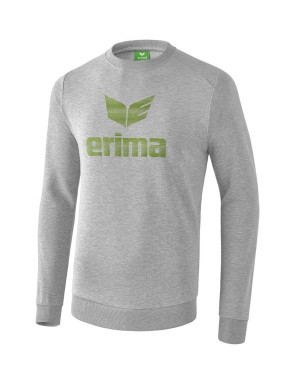 Sweat-shirt Essential - Enfant - gris clair chiné/vert citron
