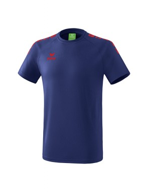 T-Shirt 5-C Essential - Enfant - bleu marine/rouge