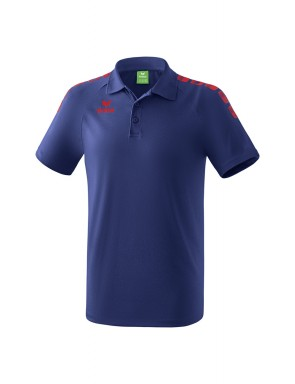 Polo 5-C Essential - Enfant - bleu marine/rouge