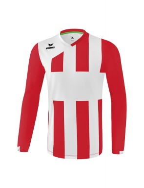 Maillot SIENA 3.0 manches longues - Homme - rouge/blanc