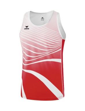 Singlet - Homme - rouge/blanc