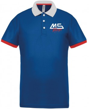 MS Pétanque Polo bleu