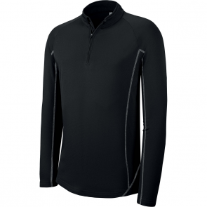 Sweat running 1/4 zip - homme - noir