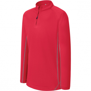 Sweat running 1/4 zip - enfant - rouge