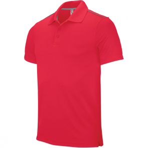 Polo manches courtes - homme - rouge