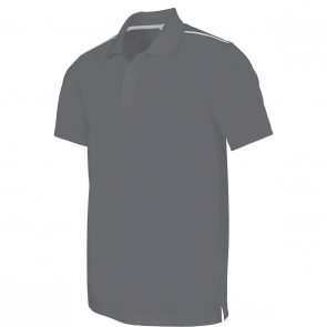 Polo manches courtes - homme - gris
